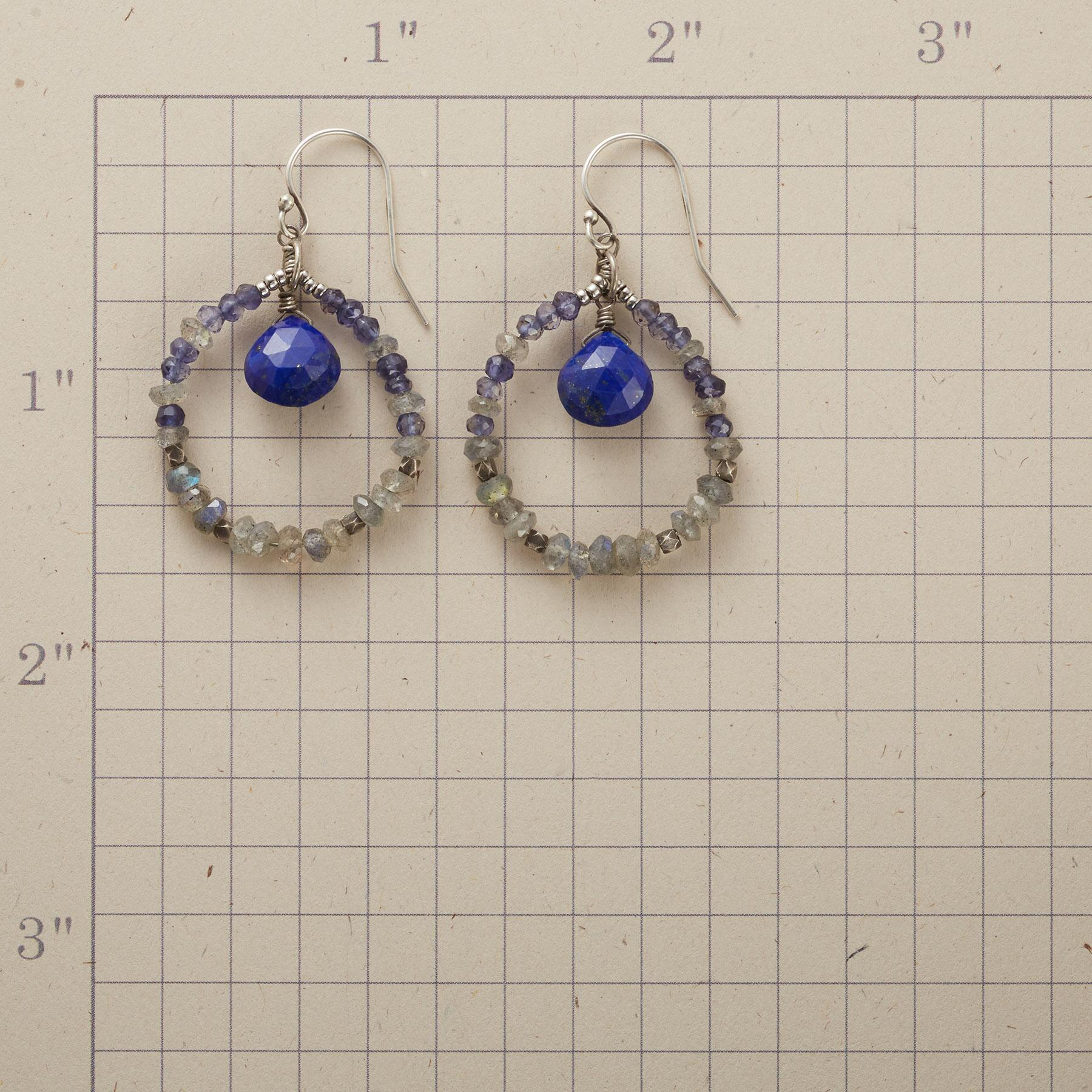 PIERCED BLUE HOOPS: View 2