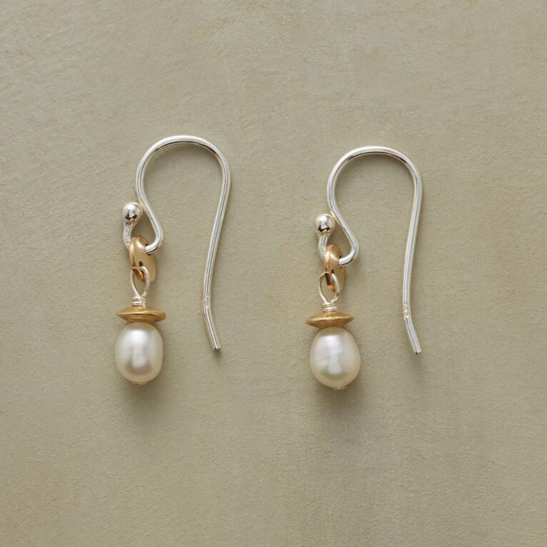 DISK AND SAUCER PEARL EARRINGS