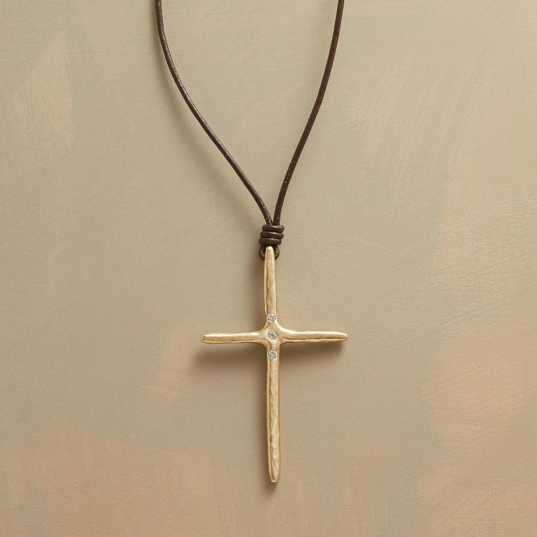 TRINITY CROSS NECKLACE: View 1