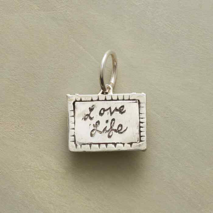PERSONALIZED STERLING LOVE LIFE CHARM