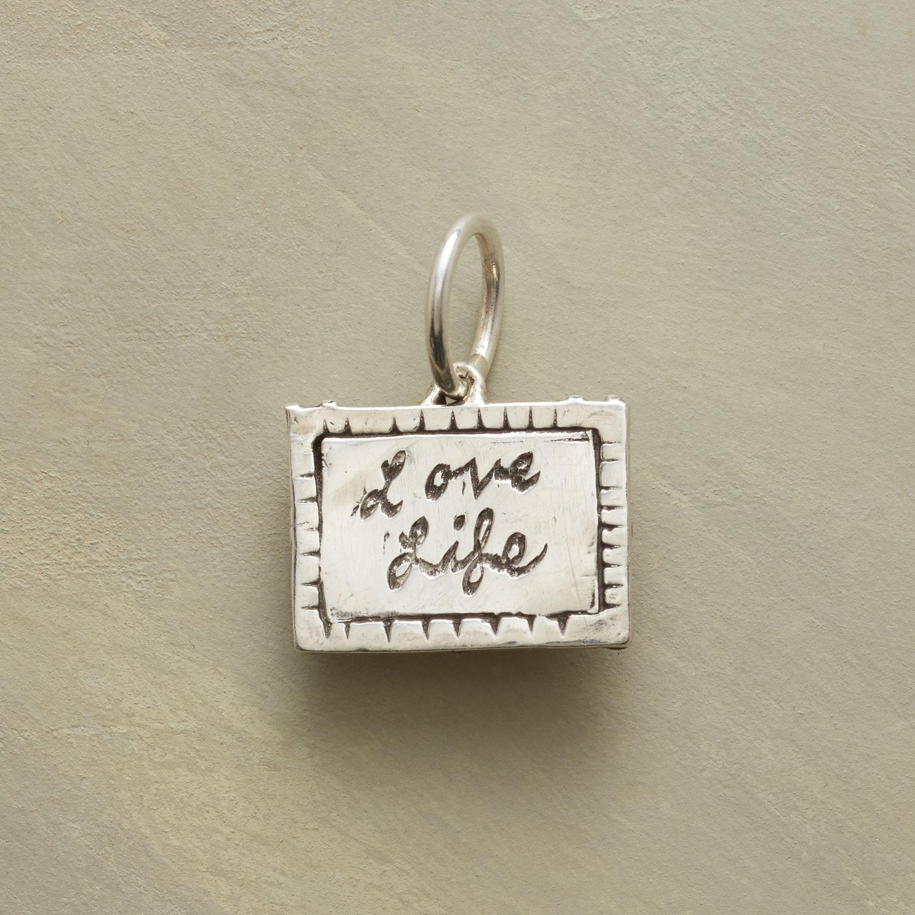 PERSONALIZED STERLING LOVE LIFE CHARM: View 1