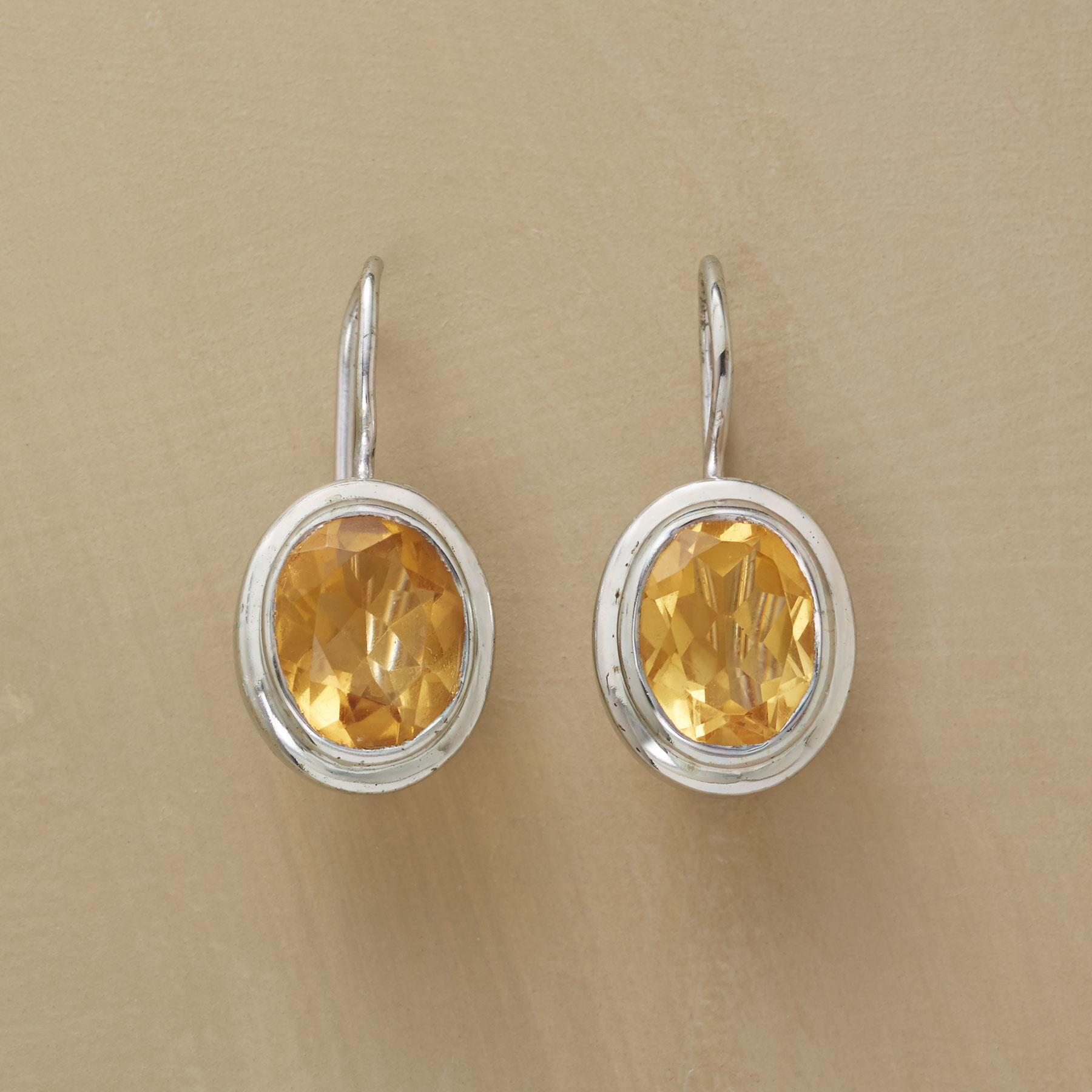 STARRY CITRINE EARRINGS: View 1