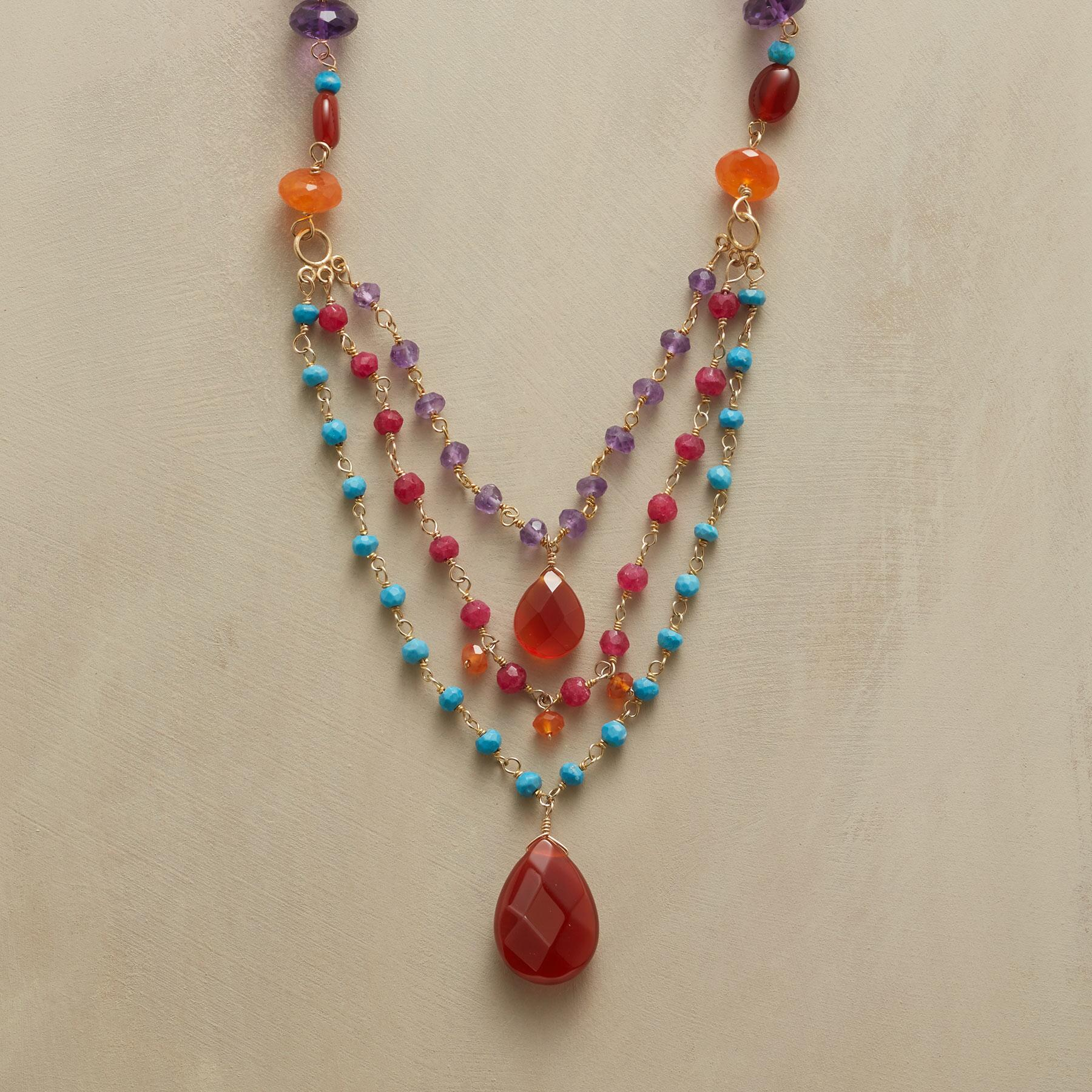 CARNELIAN AND COMPANY NECKLACE: View 1