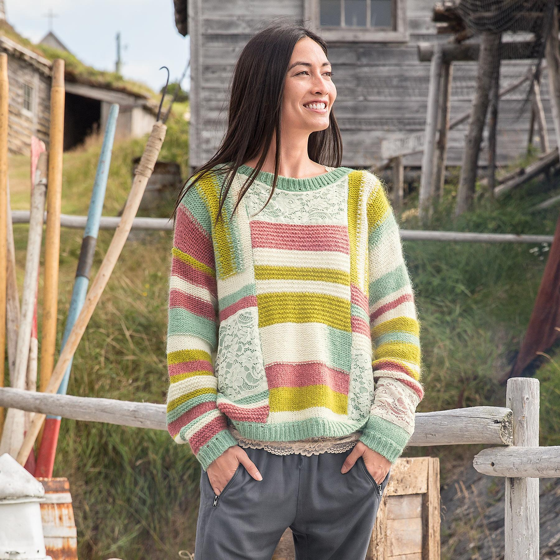 KYLIE PATCHWORK PULLOVER: View 1