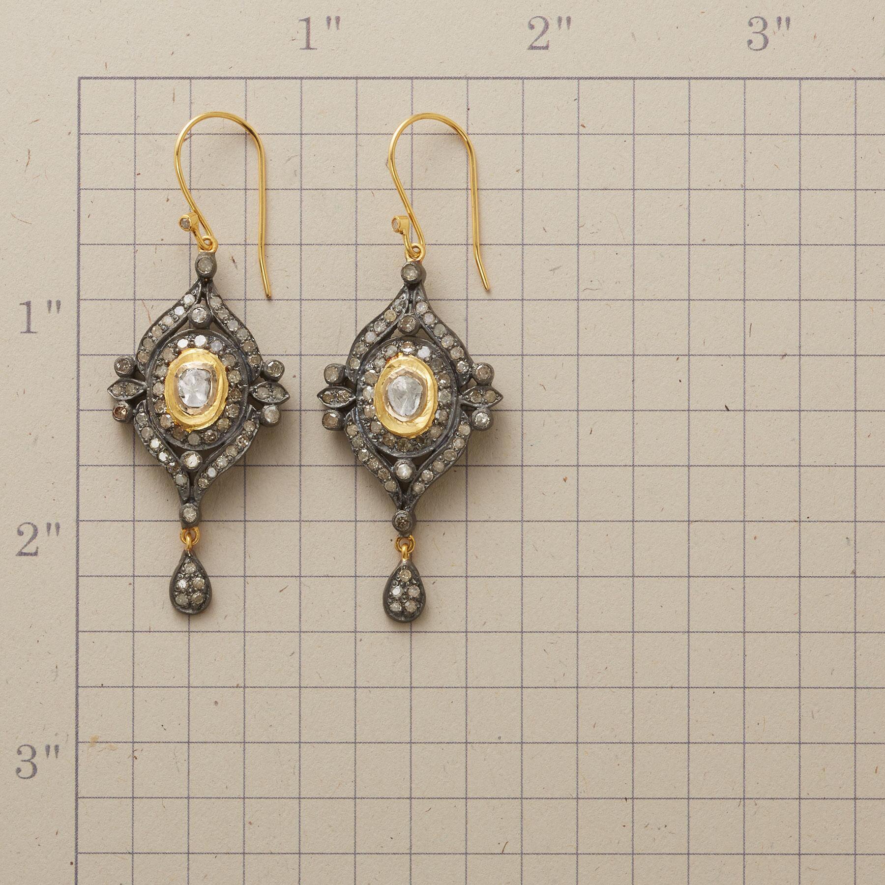 DOROTHEA DIAMOND EARRINGS: View 2