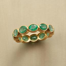 BUBBLE BEZEL EMERALD RING