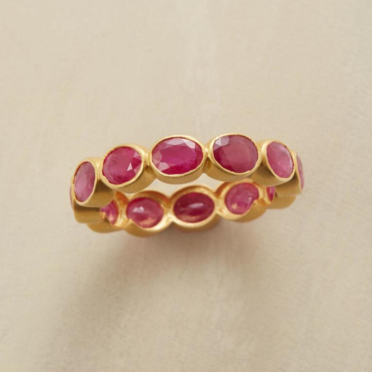 BUBBLE BEZEL RUBY RING