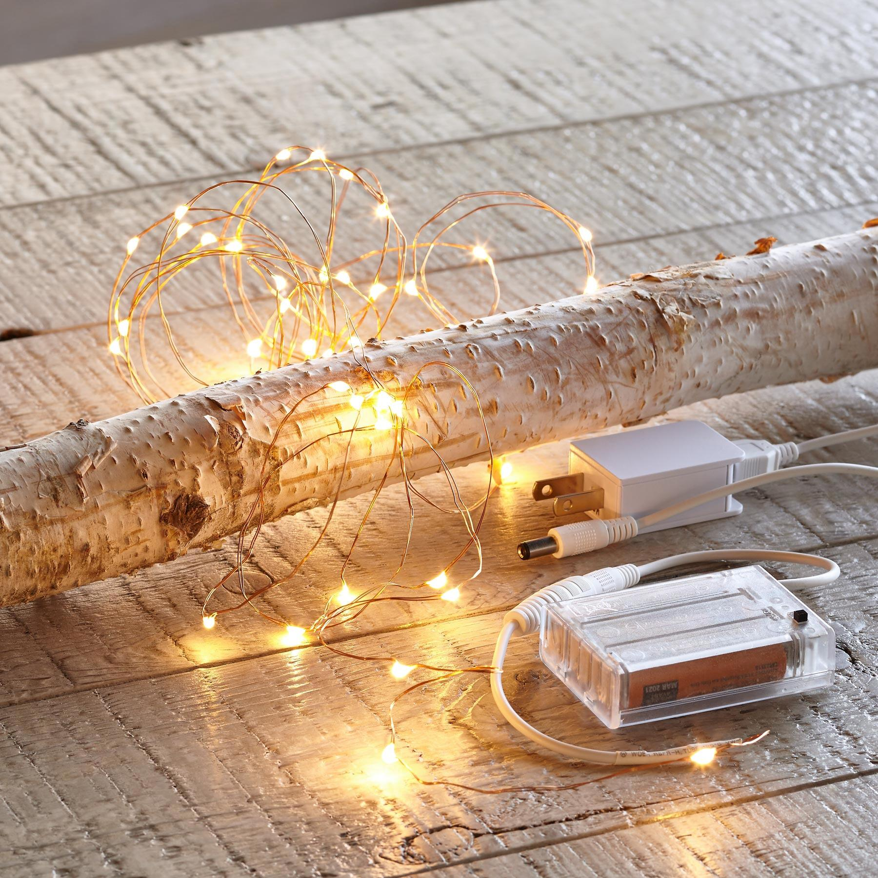 ADAPTABLE COPPER LED TWINKLE LIGHTS: View 2