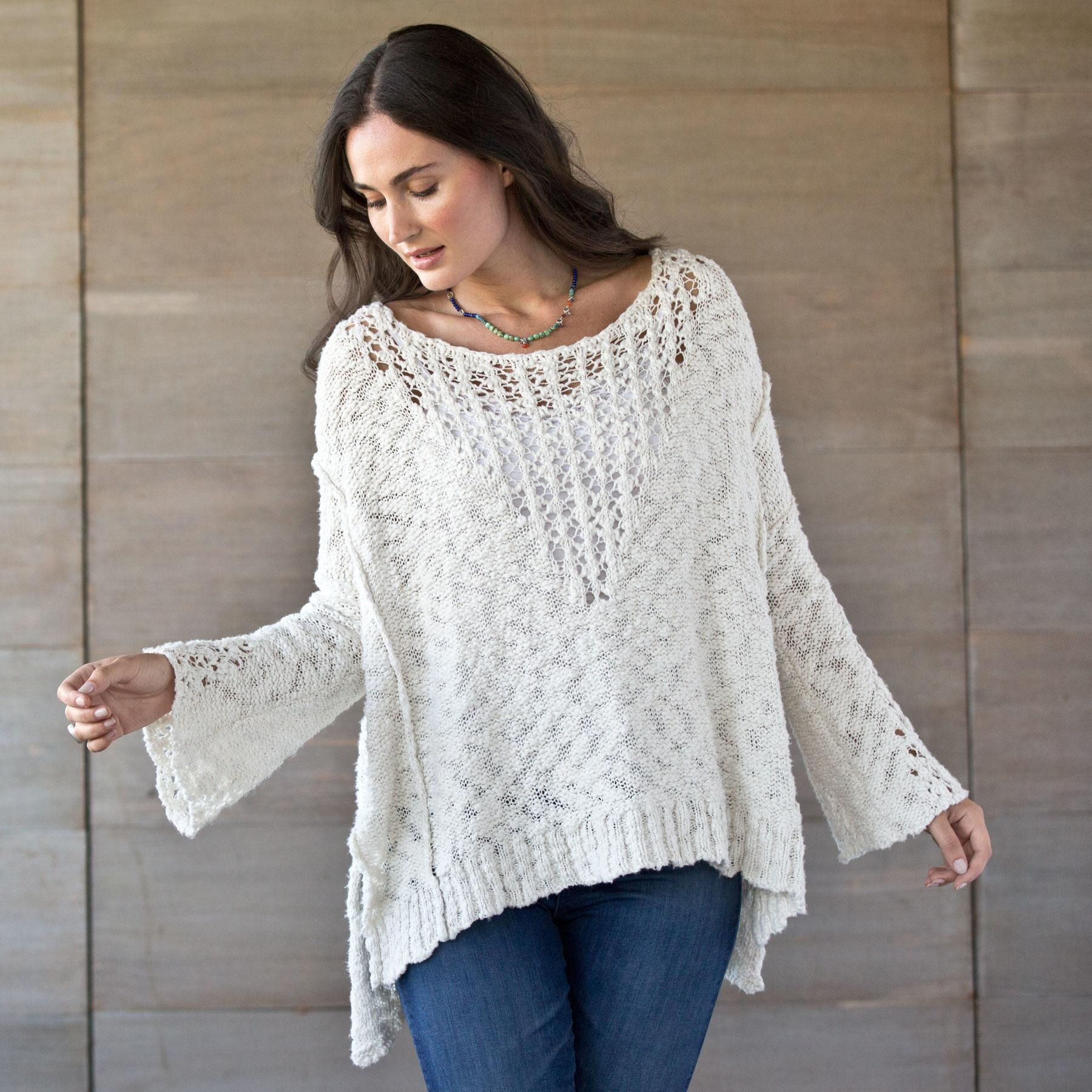 PRETTY POINTELLE SWEATER: View 1