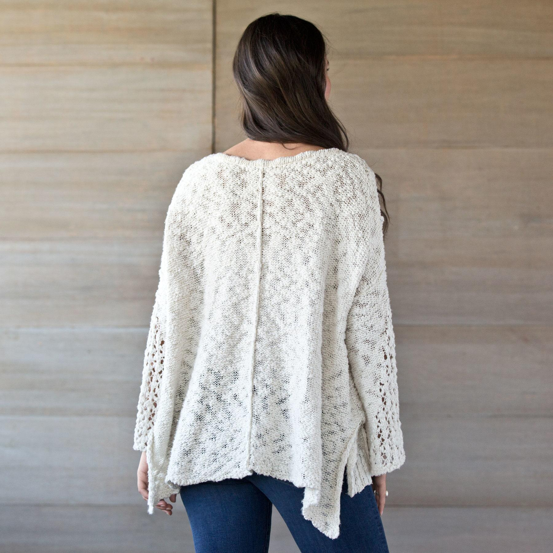 PRETTY POINTELLE SWEATER: View 2