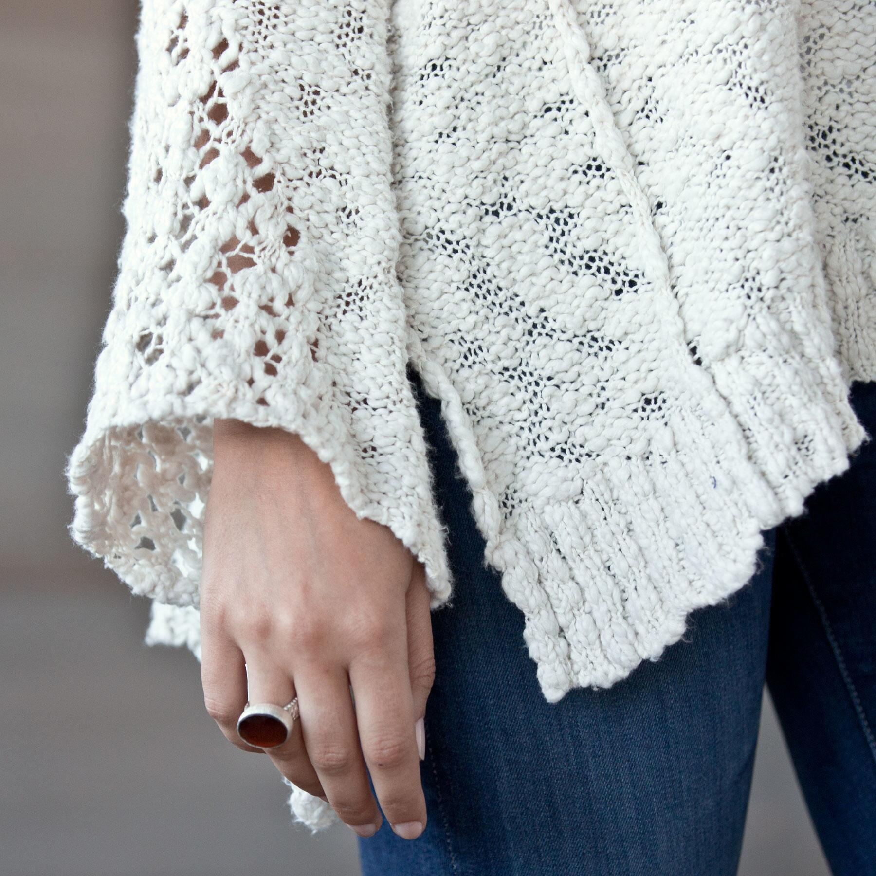 PRETTY POINTELLE SWEATER: View 3