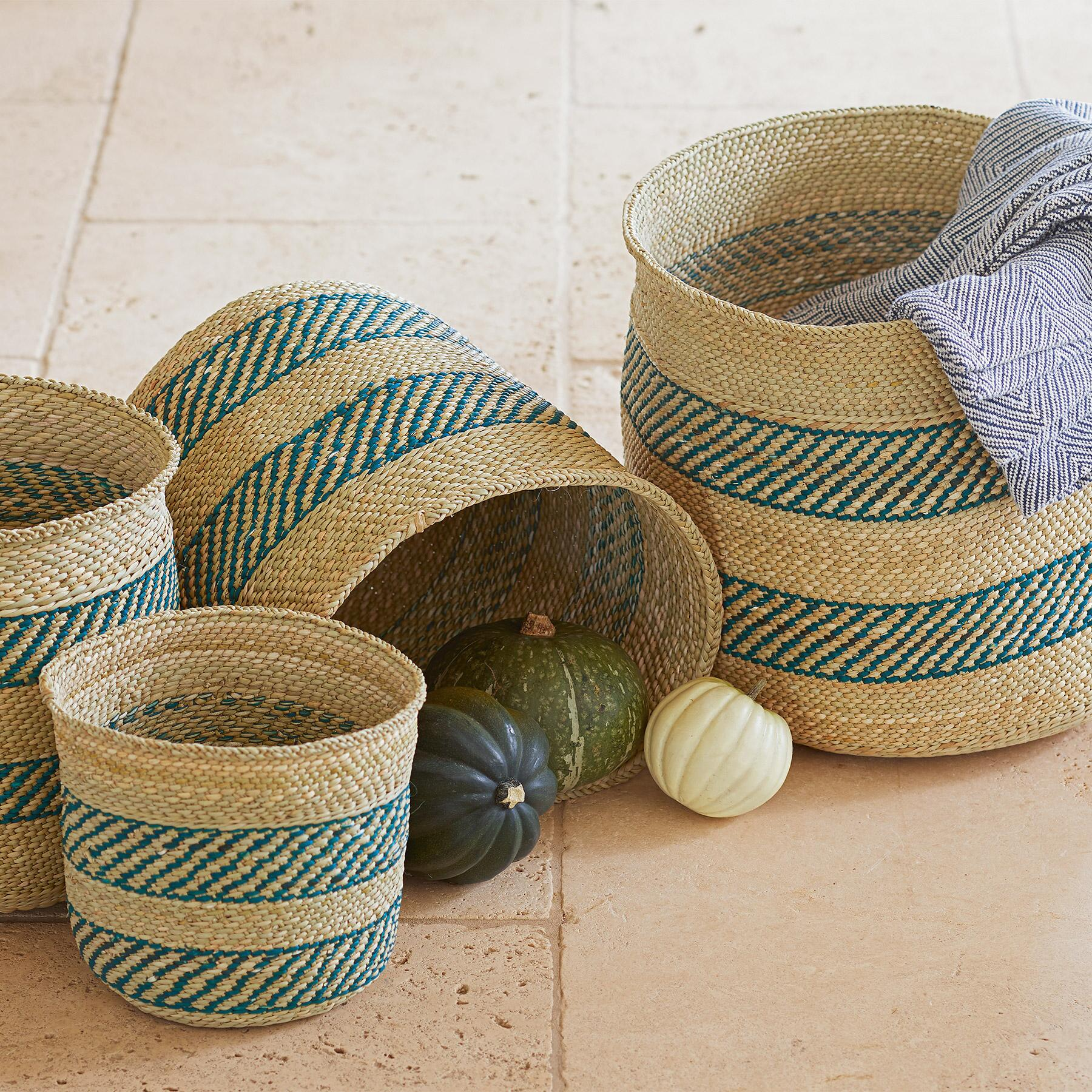 IRINGA STRIPE BASKET: View 1