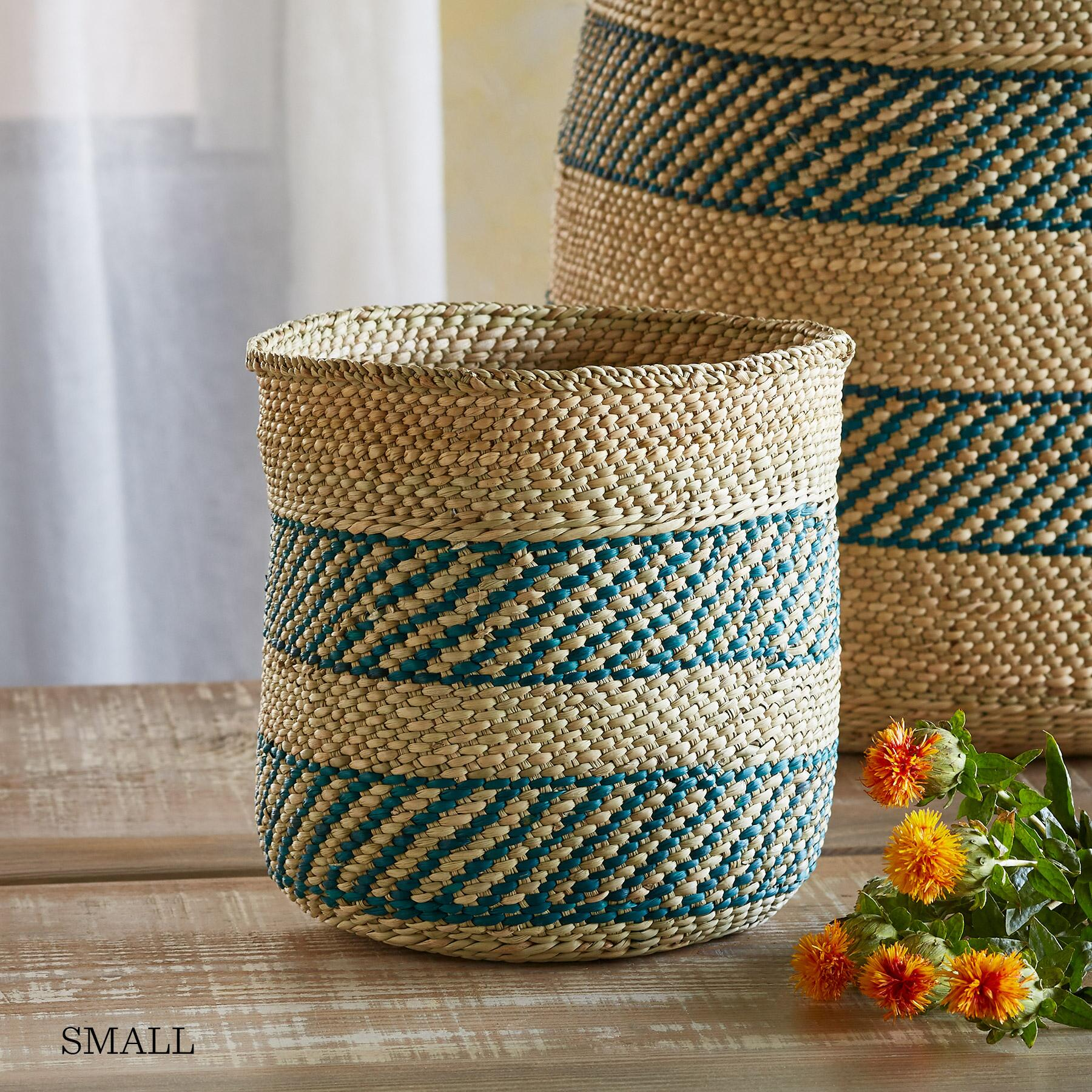IRINGA STRIPE BASKET: View 2
