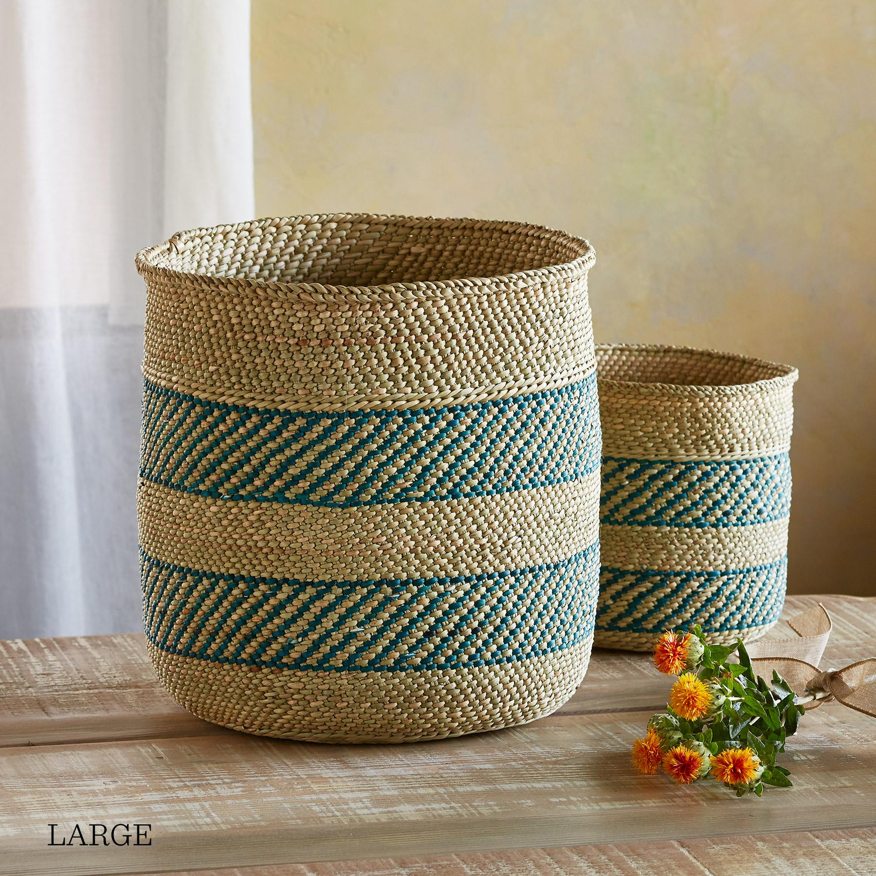 IRINGA STRIPE BASKET: View 4