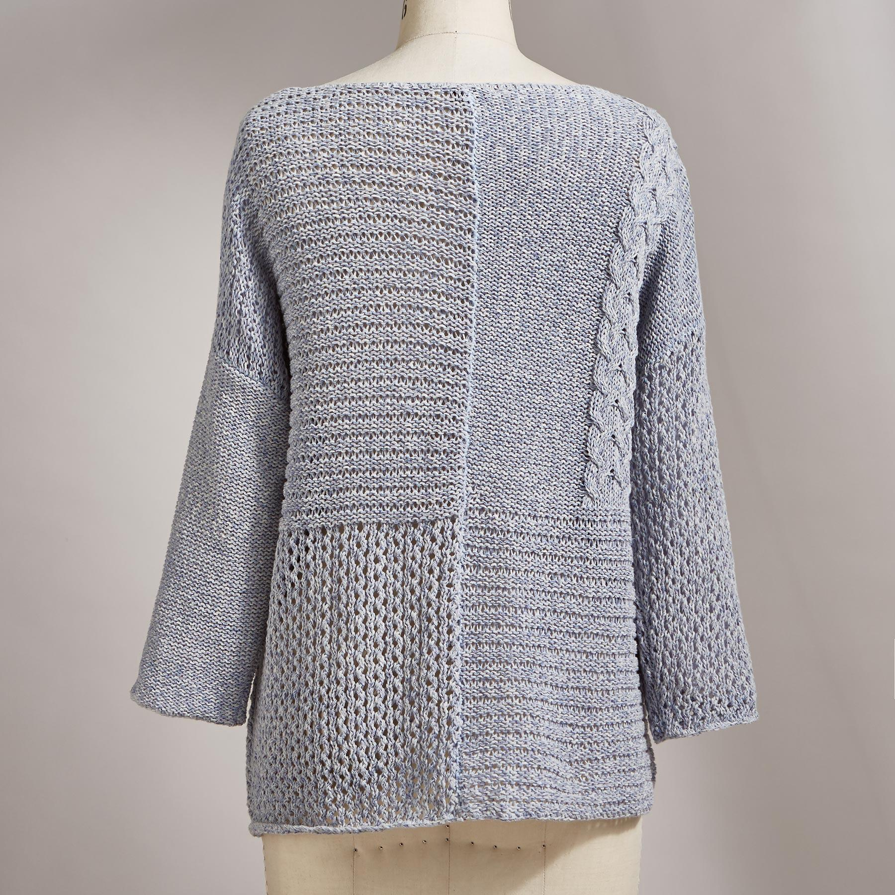 PATCHWORK STITCHES PULLOVER: View 2
