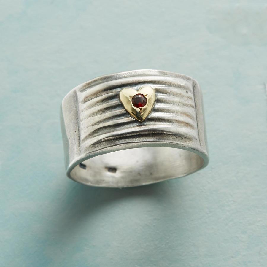 HEART ON A LINE RING