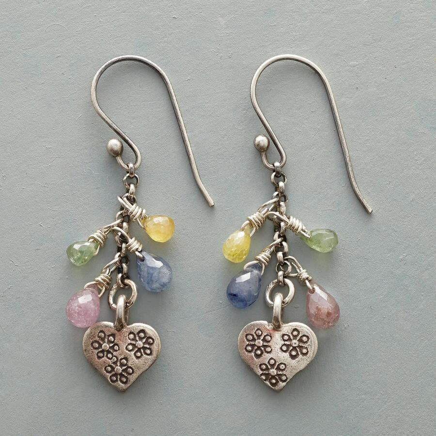 CHARM & HEART EARRINGS