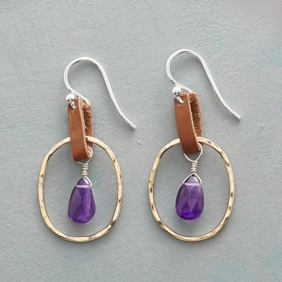 PURPLE SAGE EARRINGS