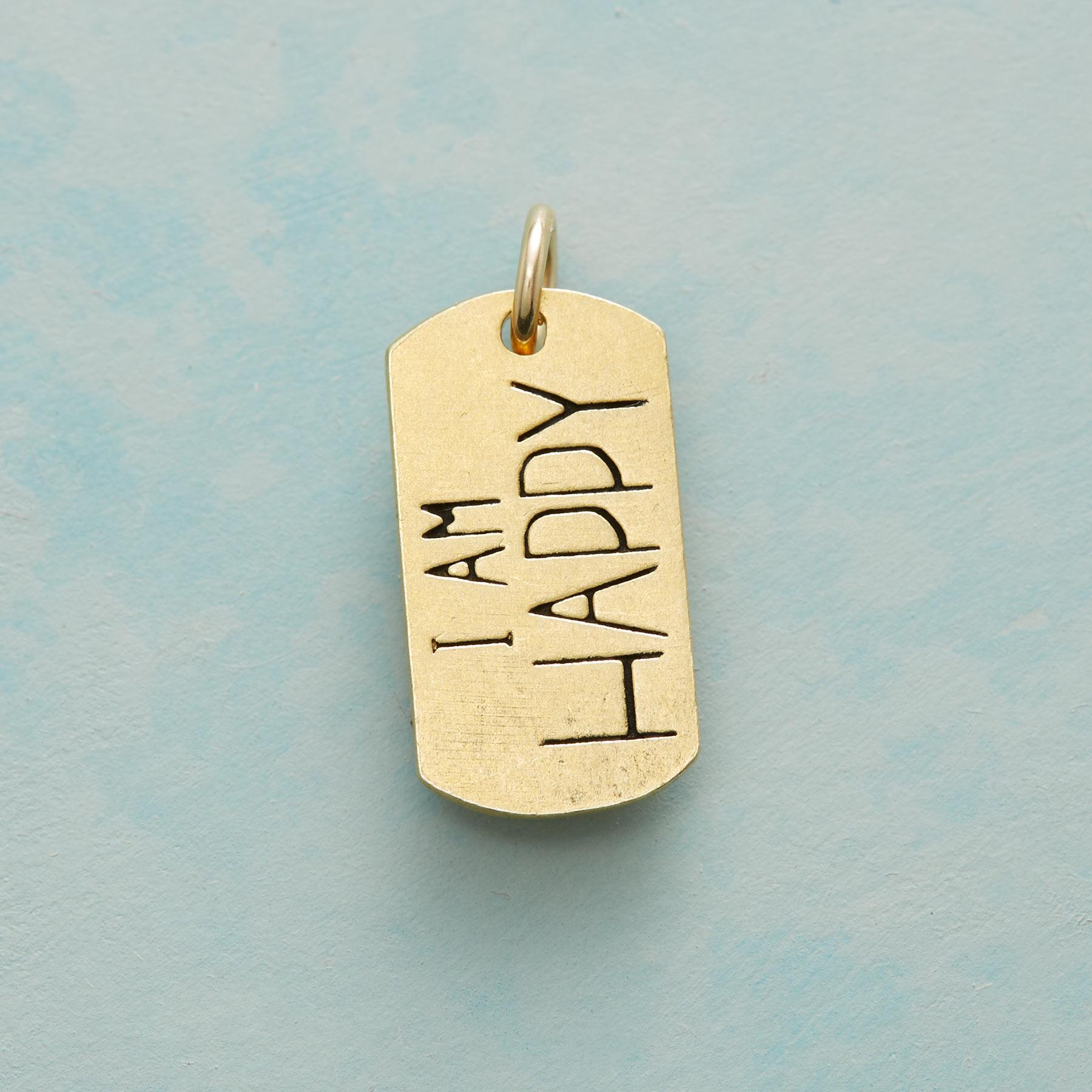 HAPPY SWEET SENTIMENT CHARM GOLD: View 1