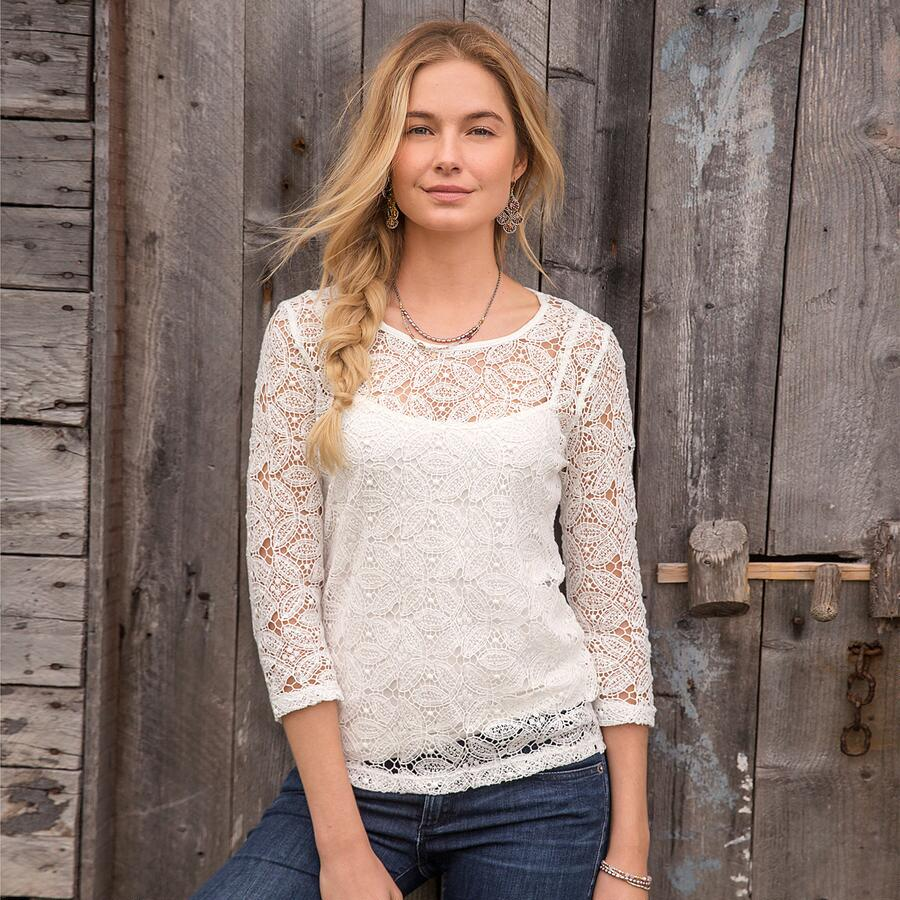 MOONBEAMS IN LACE TOP