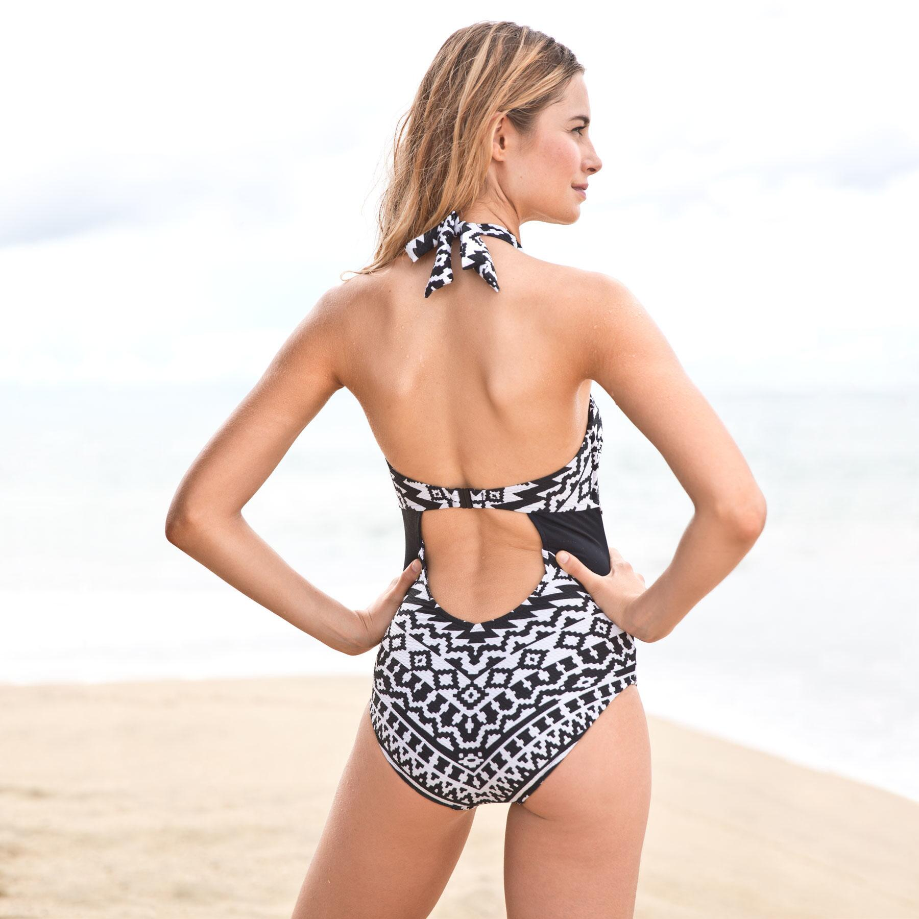 KASBAH HIGH NECK MAILLOT: View 2