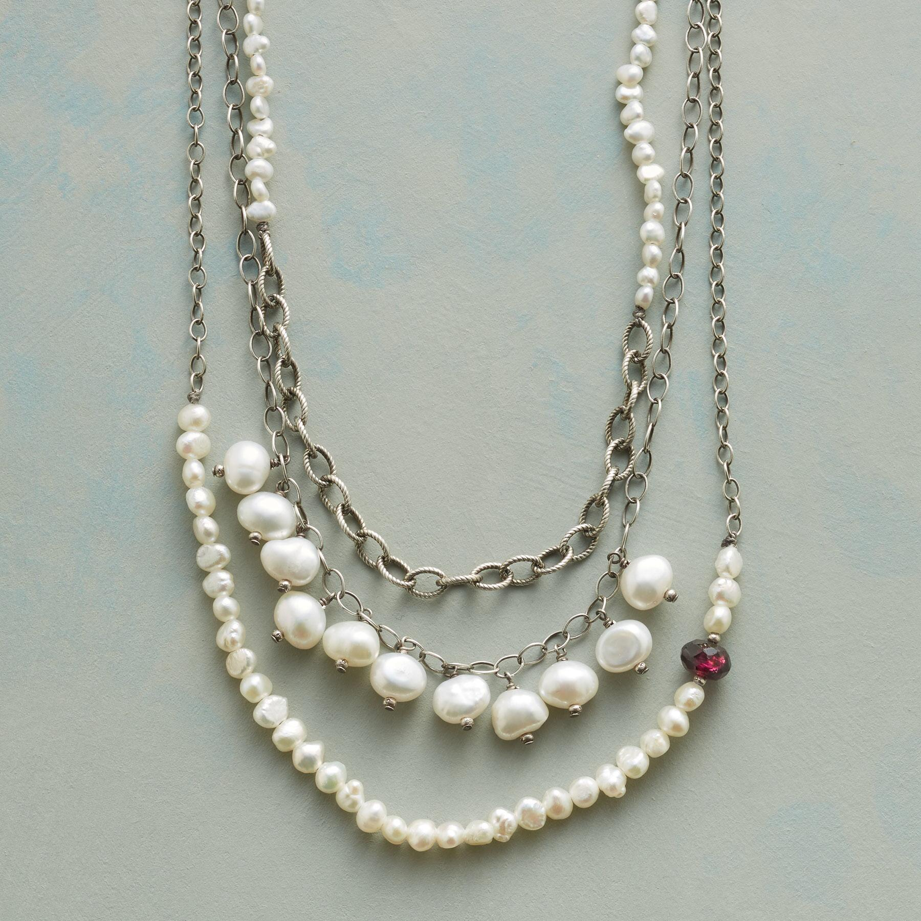 PEARL TRILOGY NECKLACE: View 1