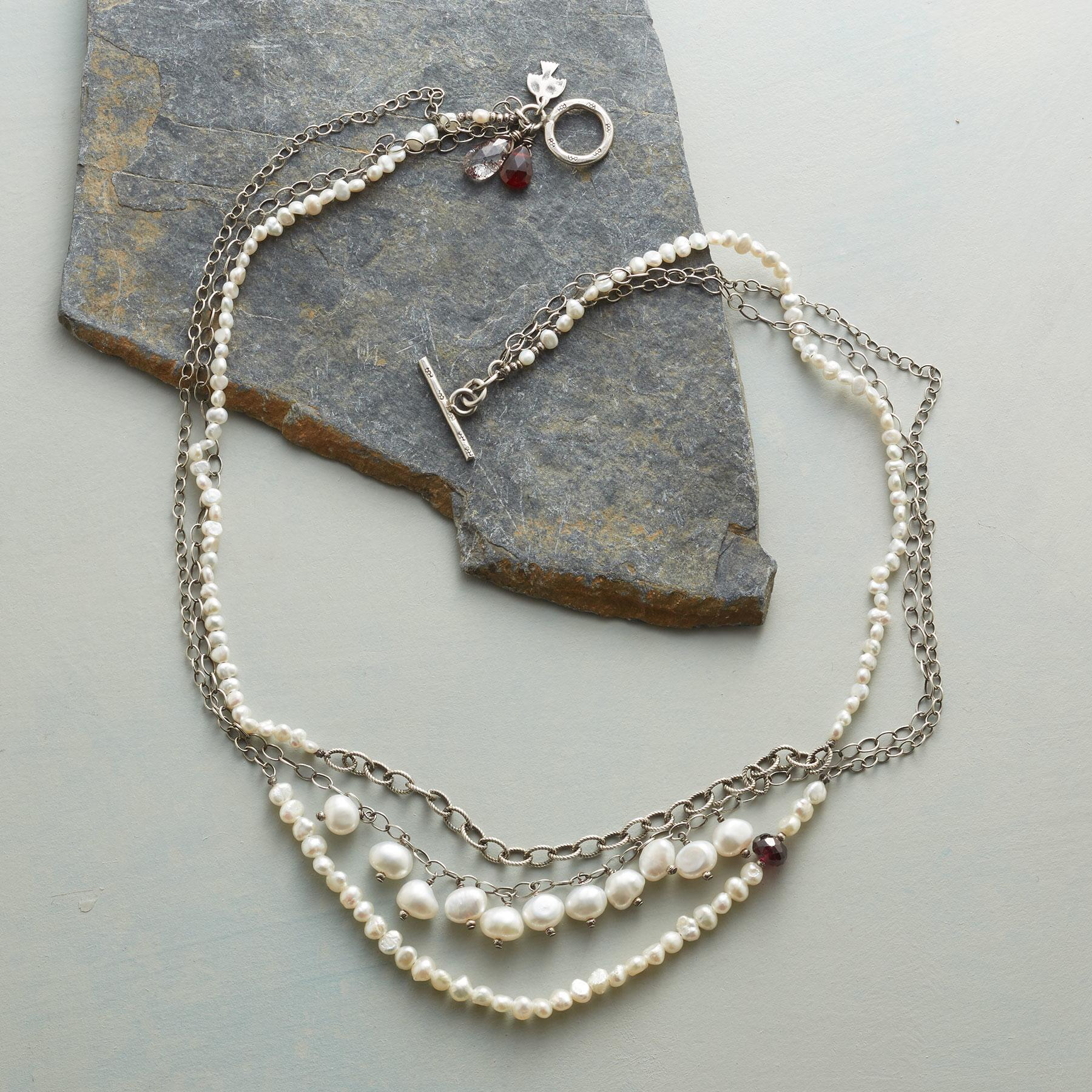 PEARL TRILOGY NECKLACE: View 2