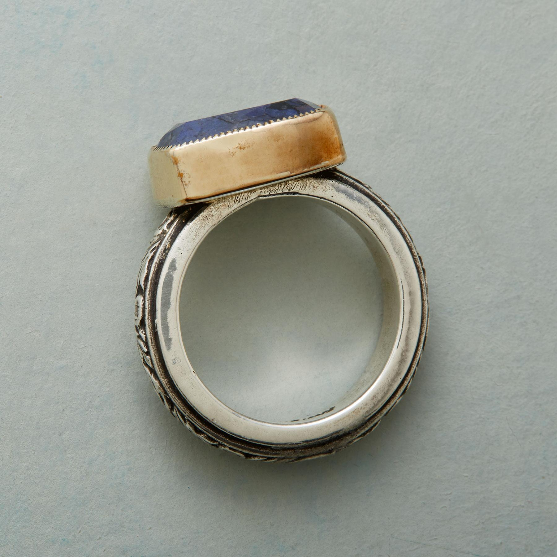 SCROLLED SAPPHIRE RING: View 2