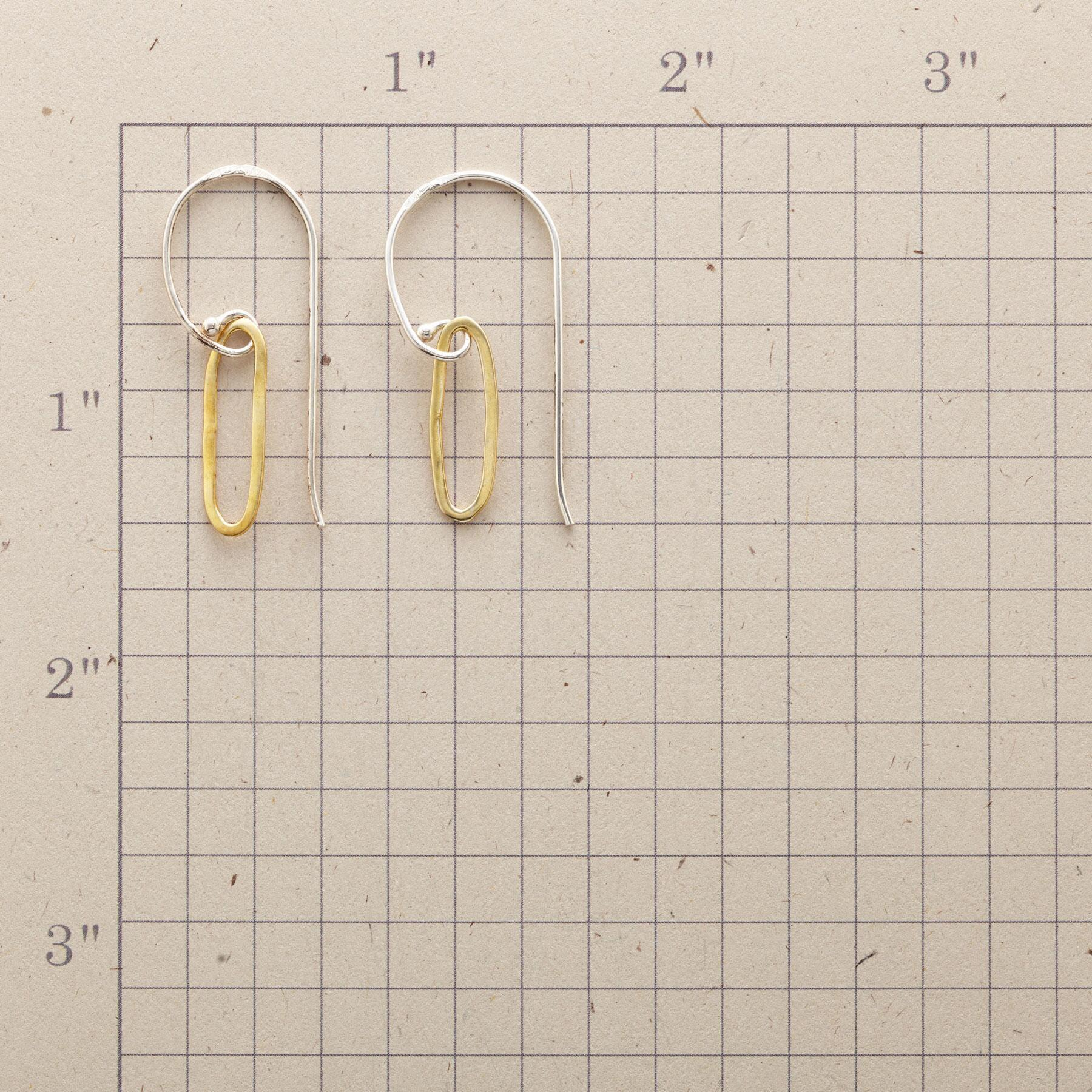 CURSIVE EARRINGS: View 2