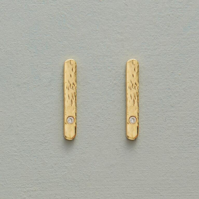 DIAMOND INGOT EARRINGS