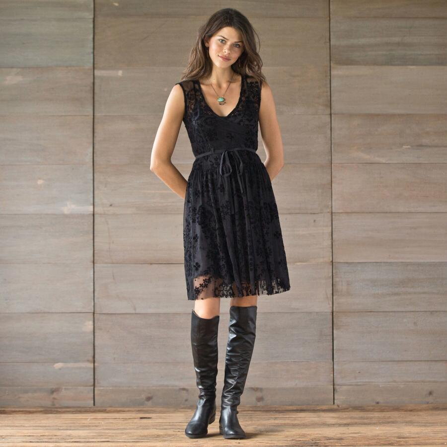 BIYA BLACK MESH DRESS
