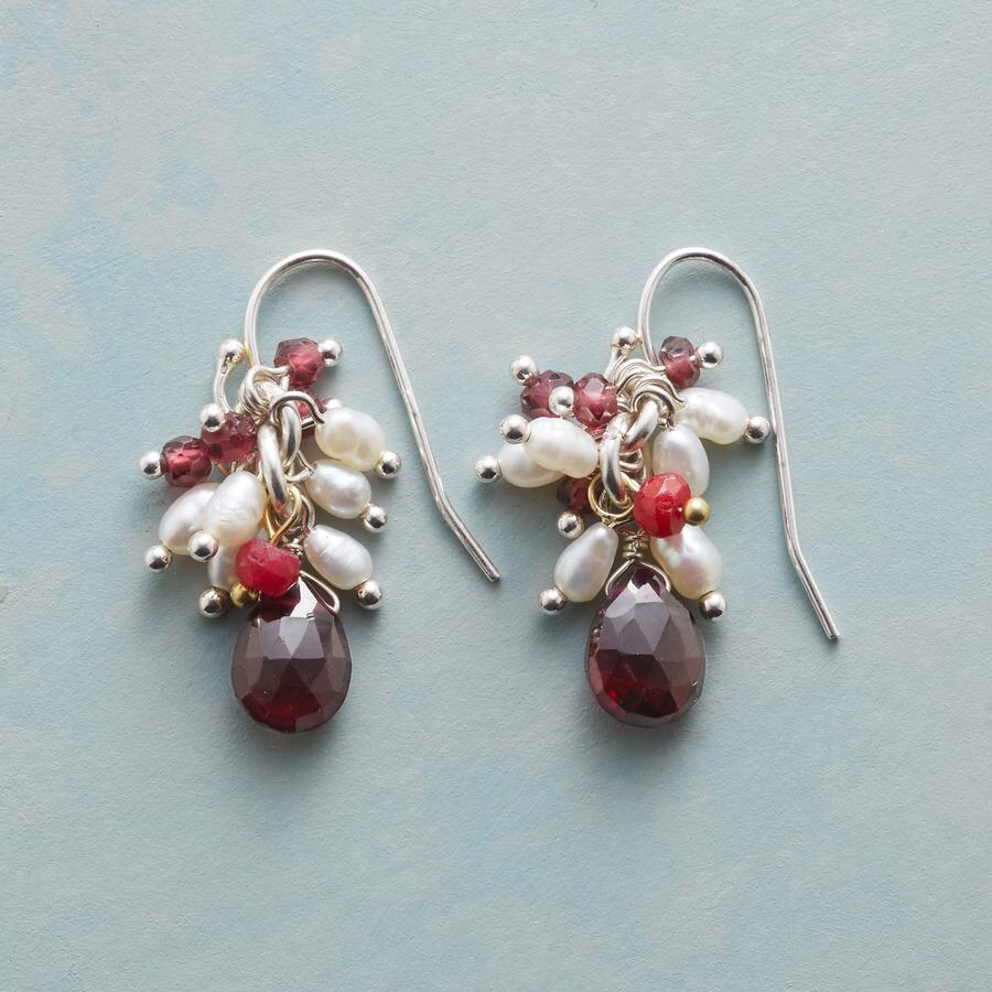 RED ON WHITE EARRINGS
