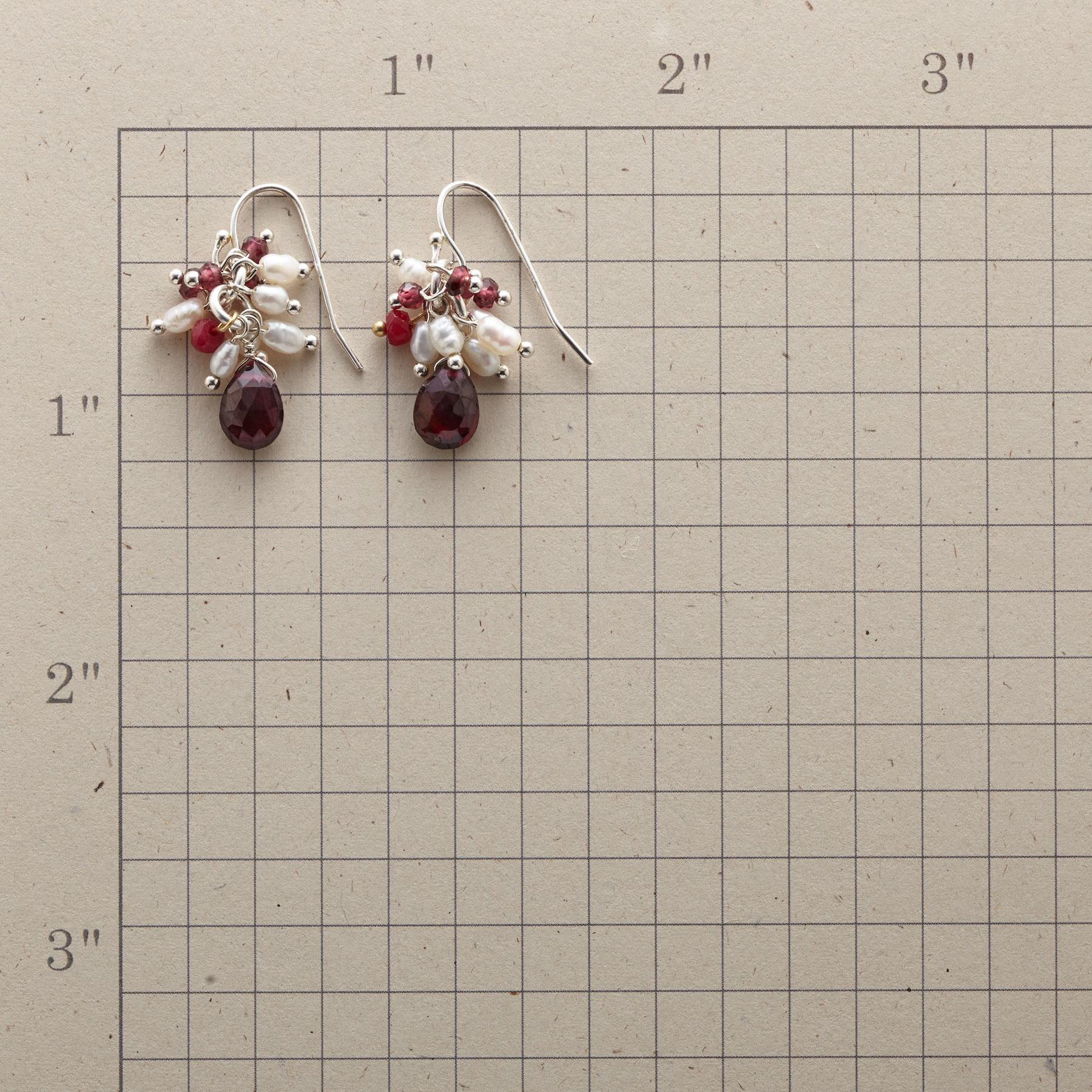 RED ON WHITE EARRINGS: View 2