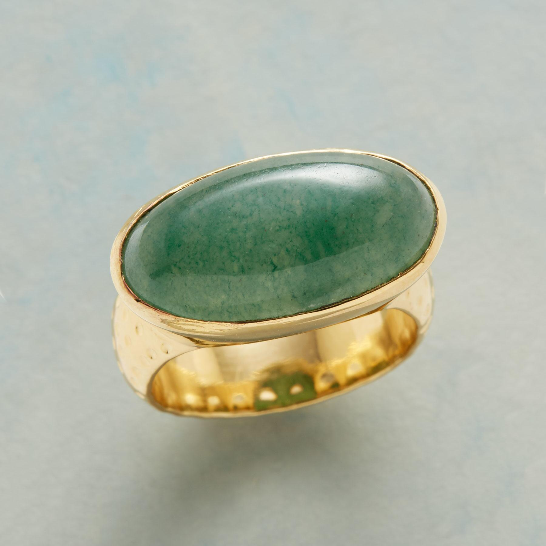 ELLIPTICAL JADE RING: View 1