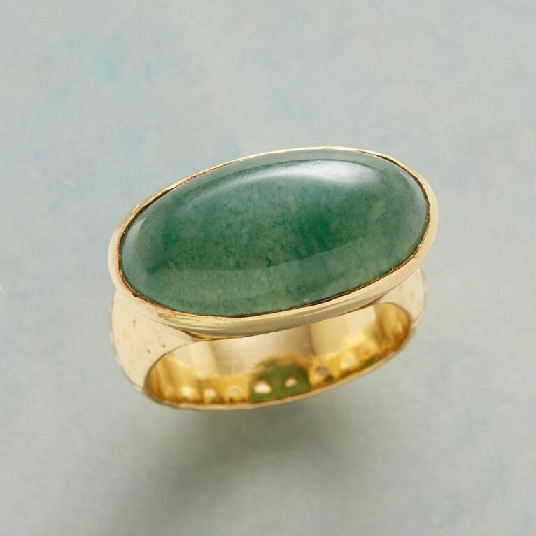 ELLIPTICAL JADE RING