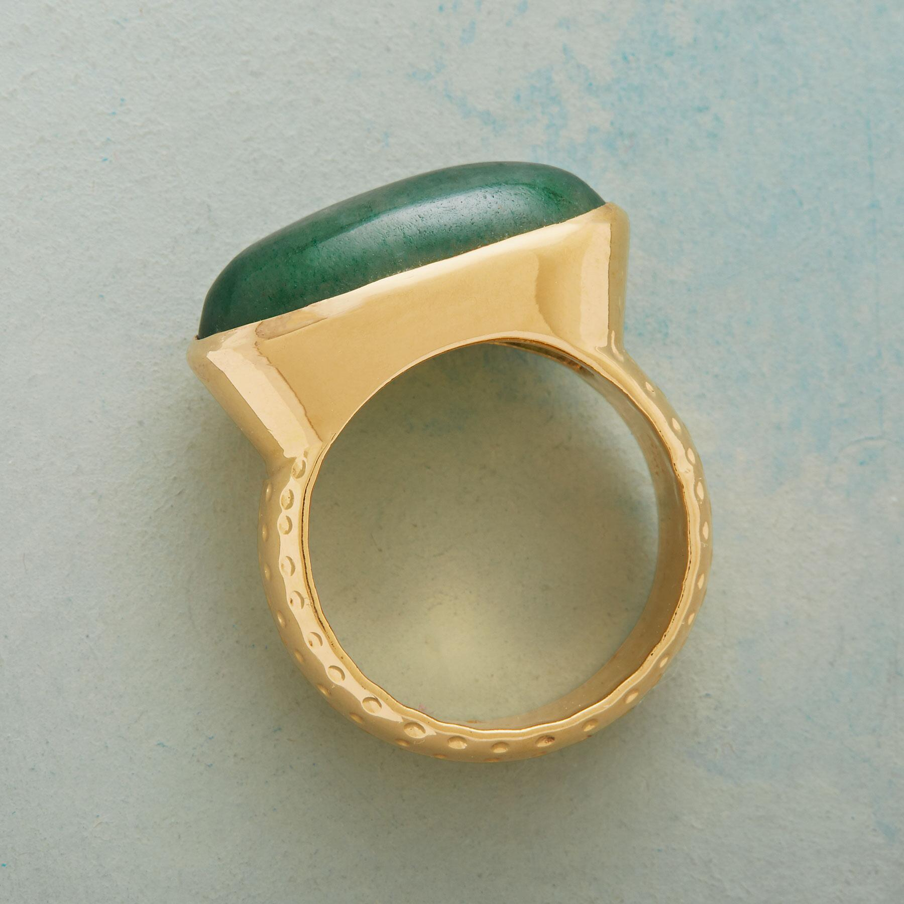 ELLIPTICAL JADE RING: View 2