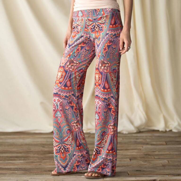 BEFORE AND AGAIN PAISLEY PANT