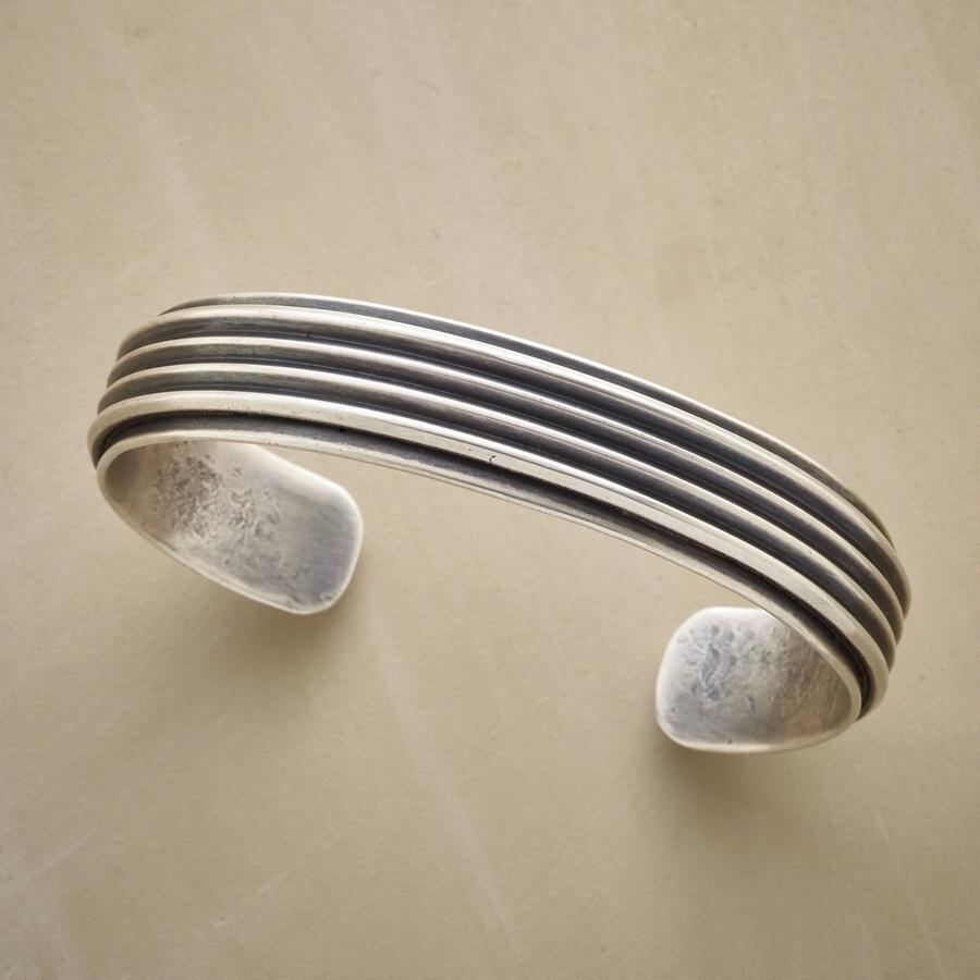 SIX RIBBON STERLING CUFF