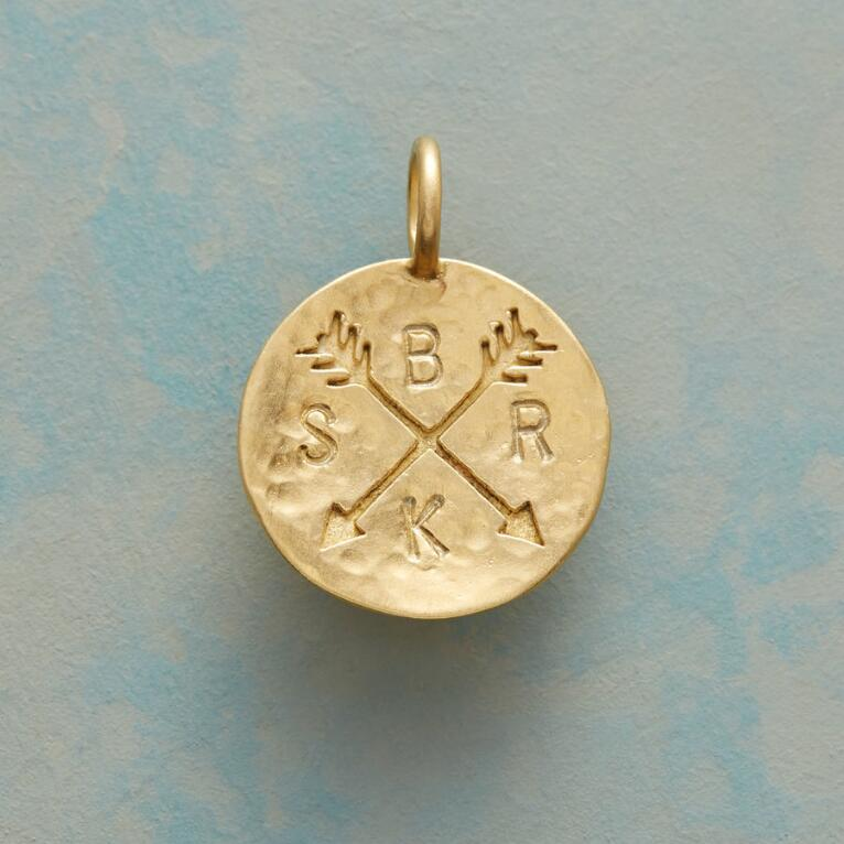 14KT GOLD PLATE CUPID'S ARROWS CHARM