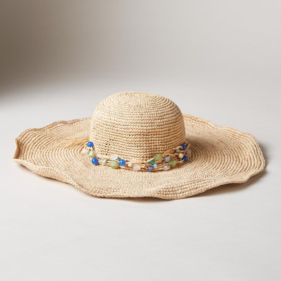 R-SEA GLASS STRAW HAT