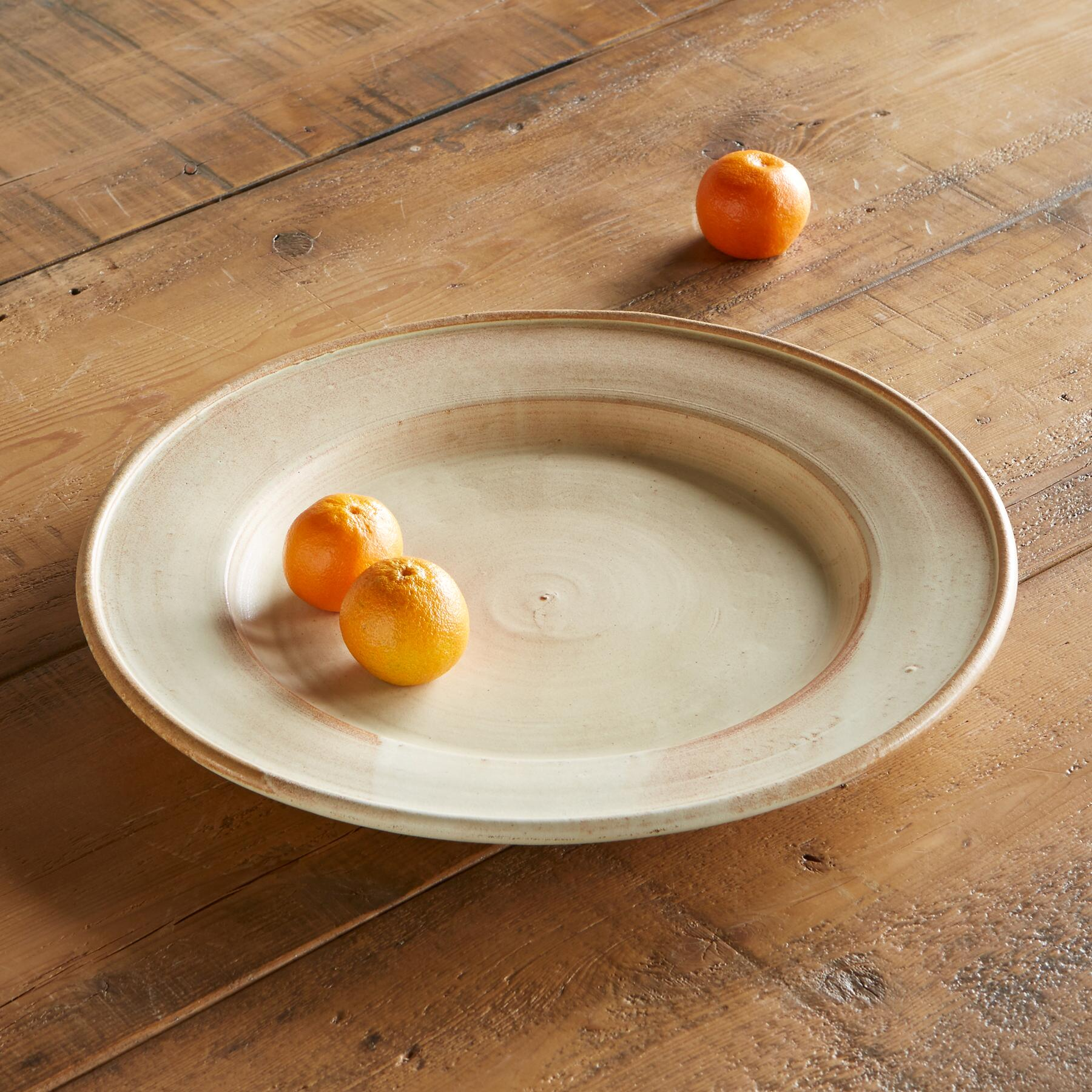 SIENNA STONEWARE SERVING PLATTER: View 1