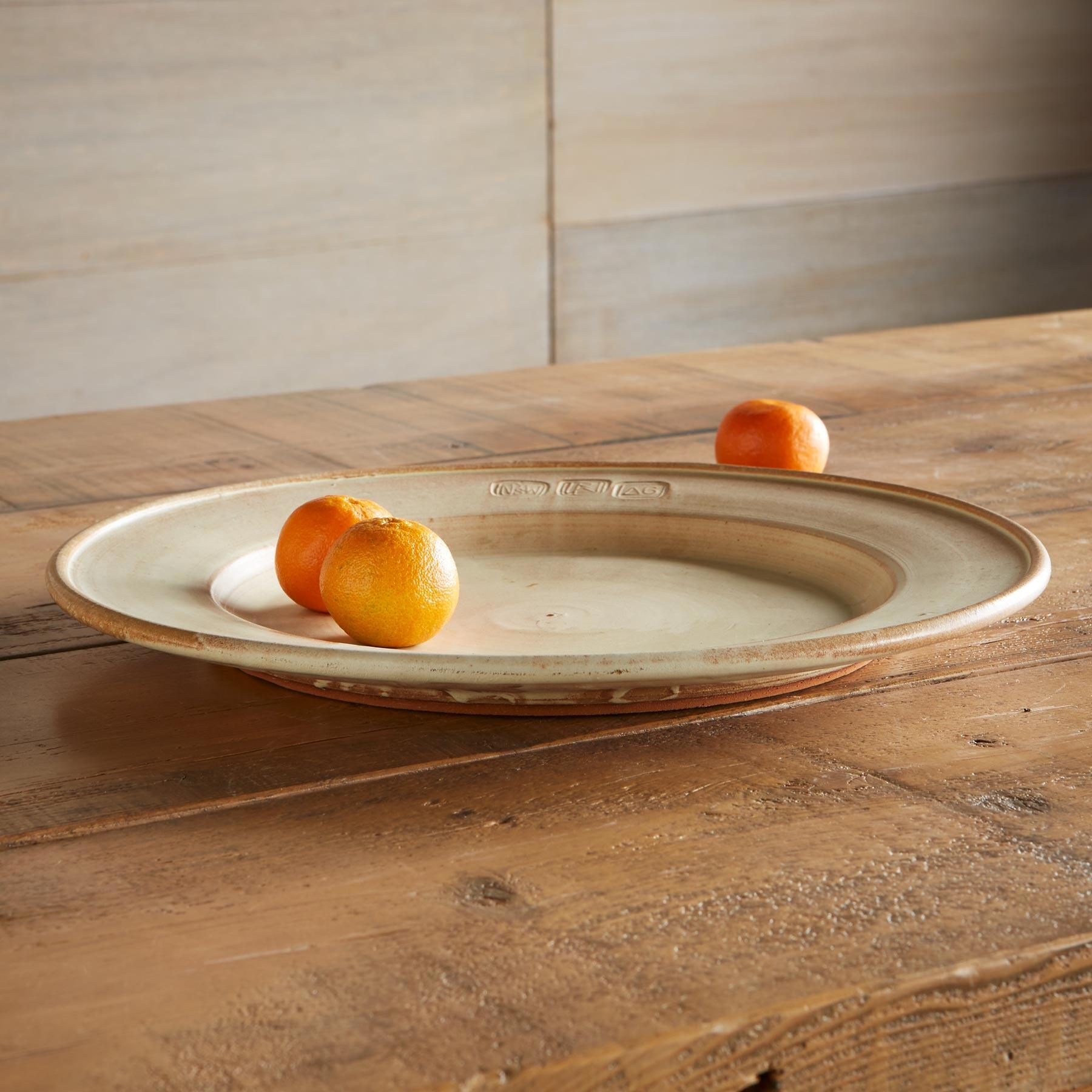SIENNA STONEWARE SERVING PLATTER: View 2