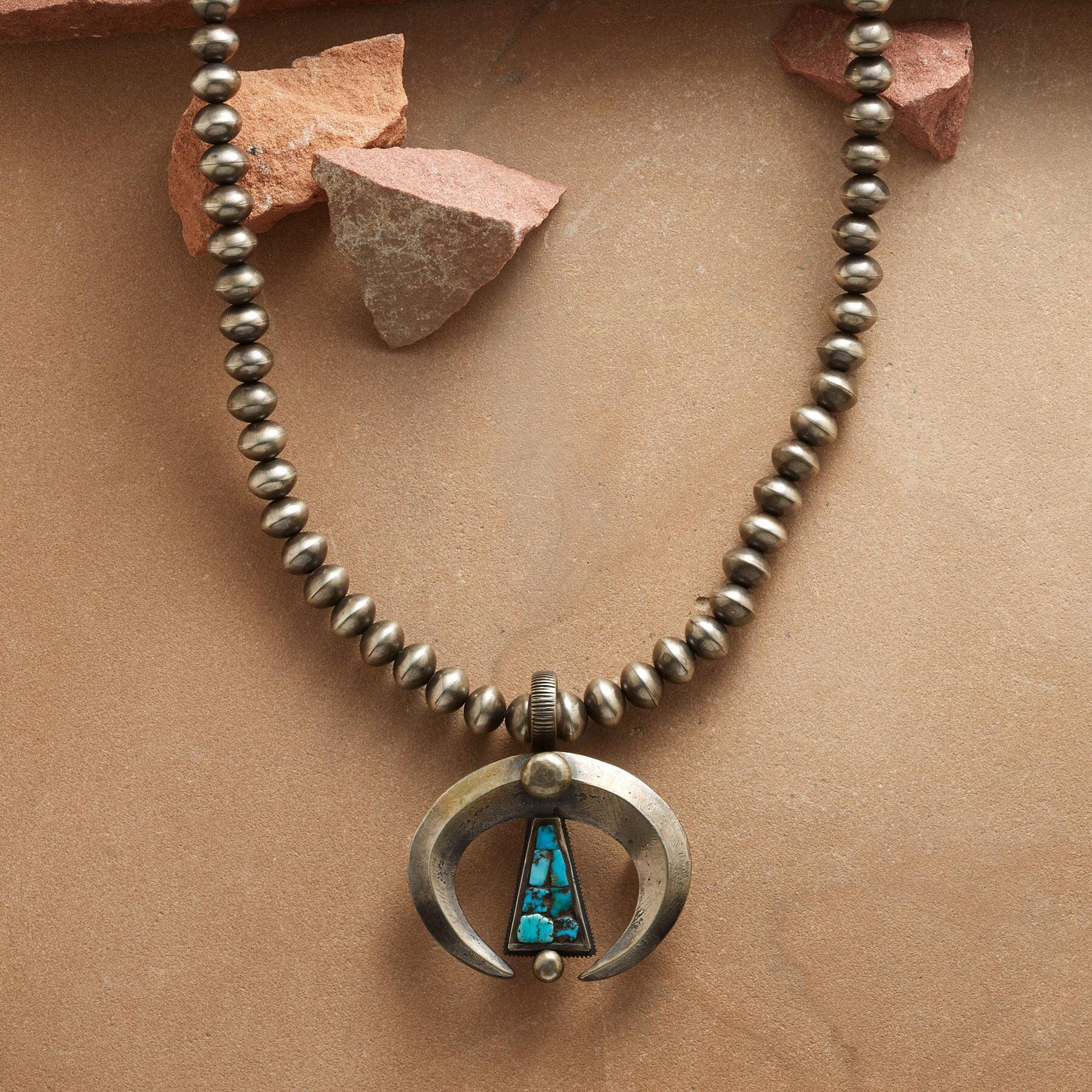 CONTEMPORARY STERLING NAJA NECKLACE: View 1