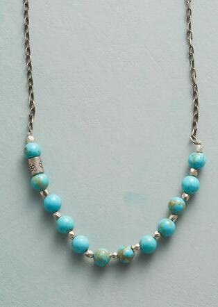 HIDDEN FLOWER TURQUOISE NECKLACE