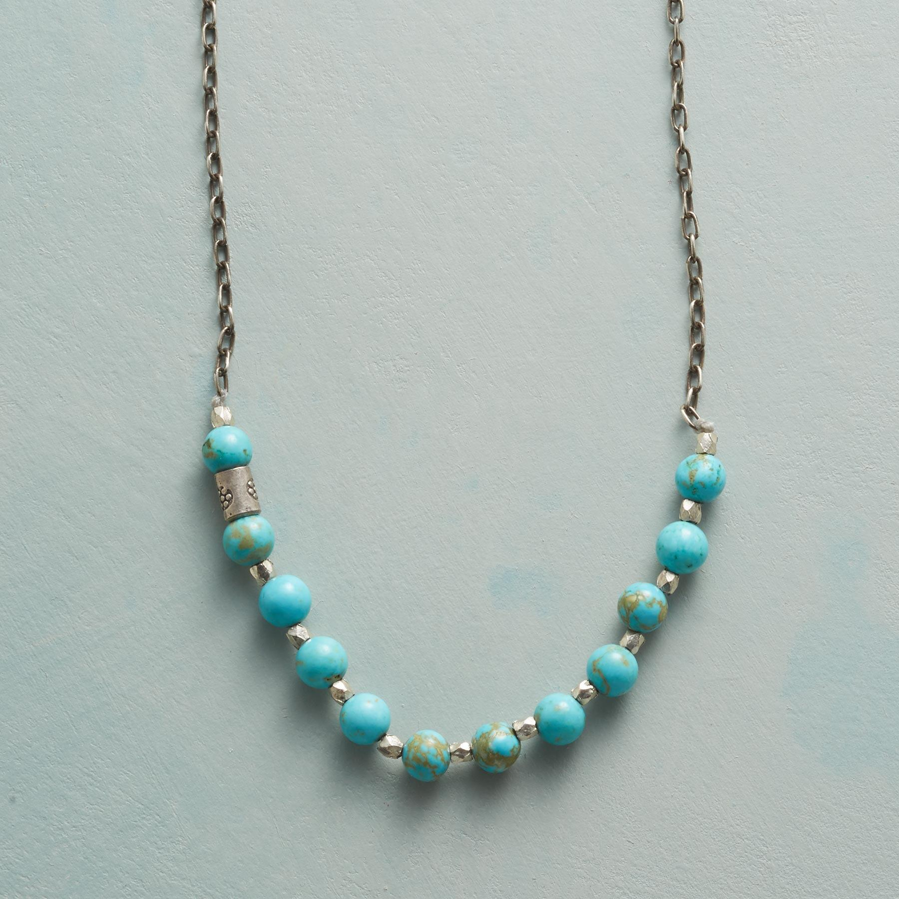 HIDDEN FLOWER TURQUOISE NECKLACE: View 1