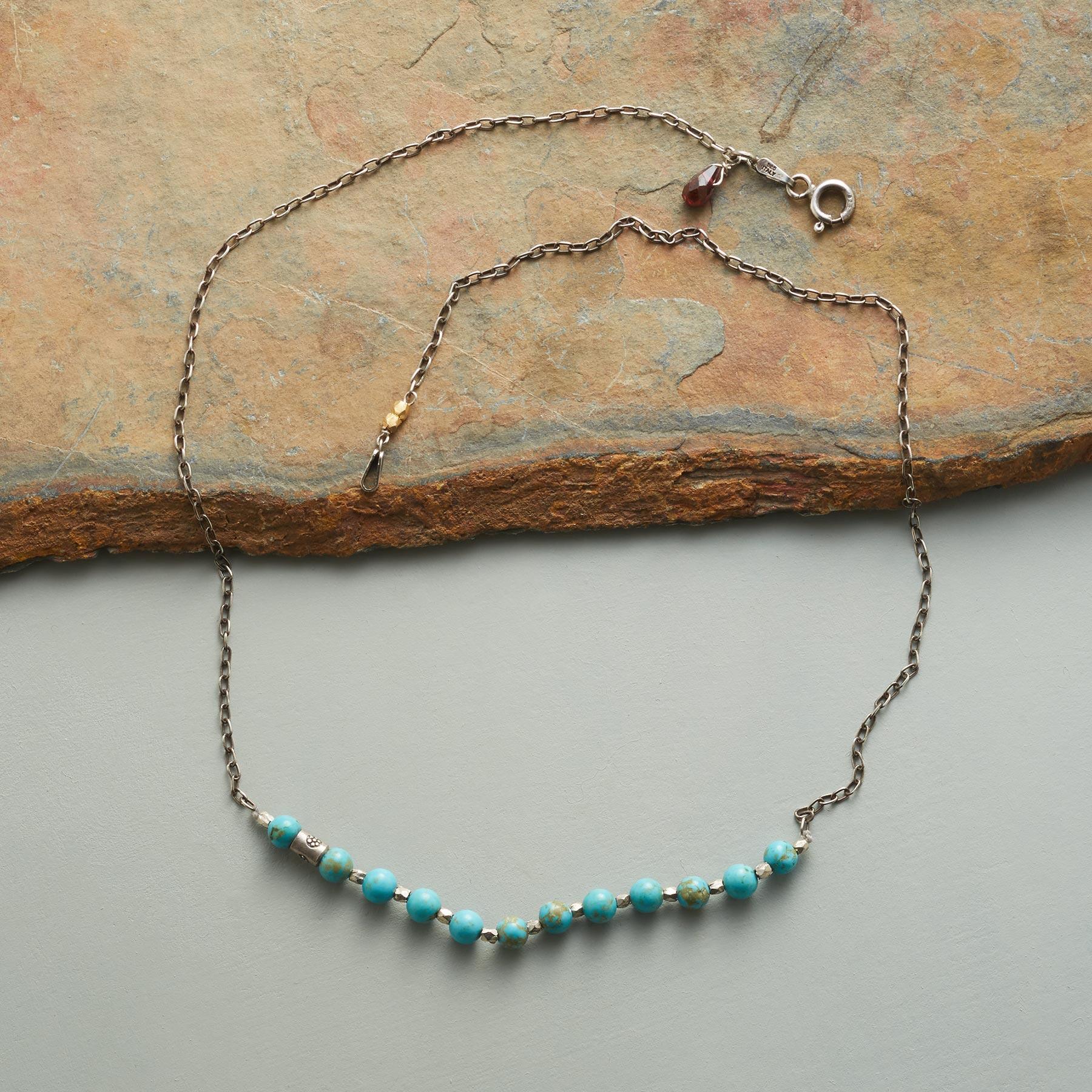 HIDDEN FLOWER TURQUOISE NECKLACE: View 2