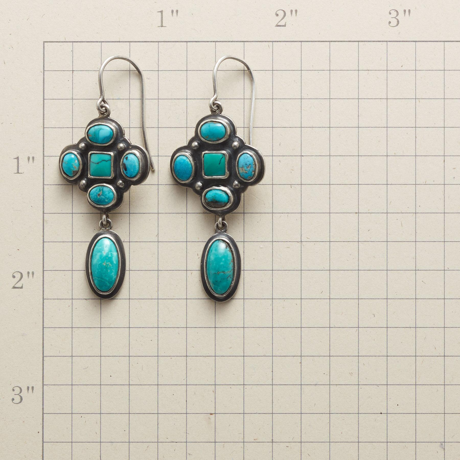 TURQUOISE CLUSTER EARRINGS: View 2