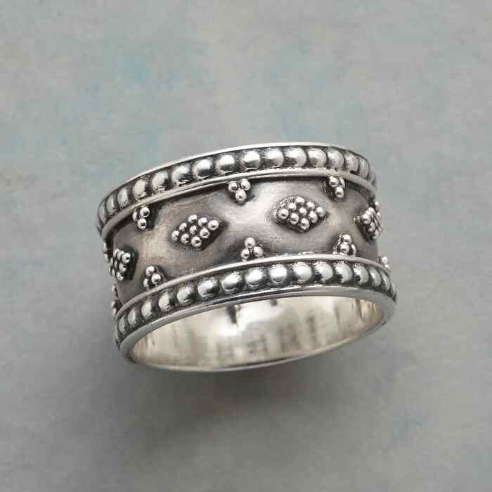 STERLING CLOUDS RING
