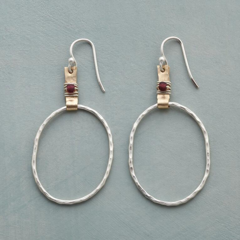 BLAZE BRIGHT HOOP EARRINGS