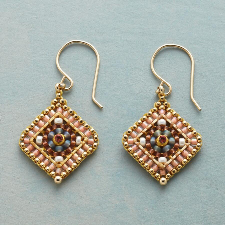 PRETTY IN PEACH EARRINGS